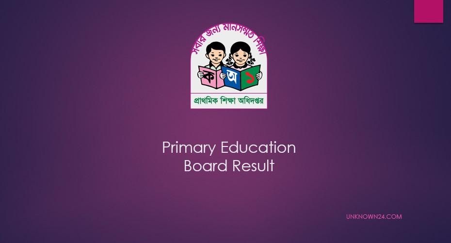 Primary Education Board Result DPE.GOV.BD
