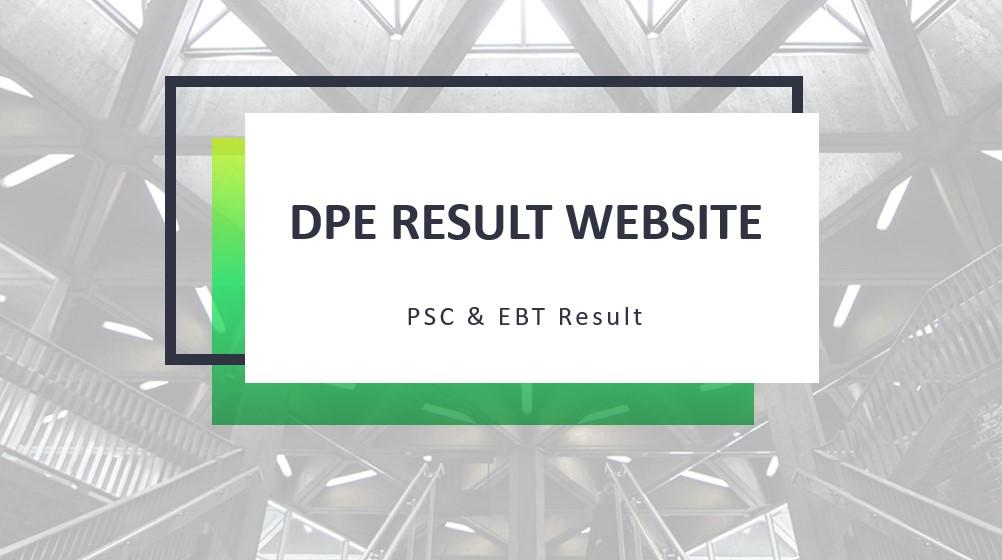 DPE Result Website