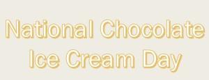 National Chocolate Ice Cream Day Logo