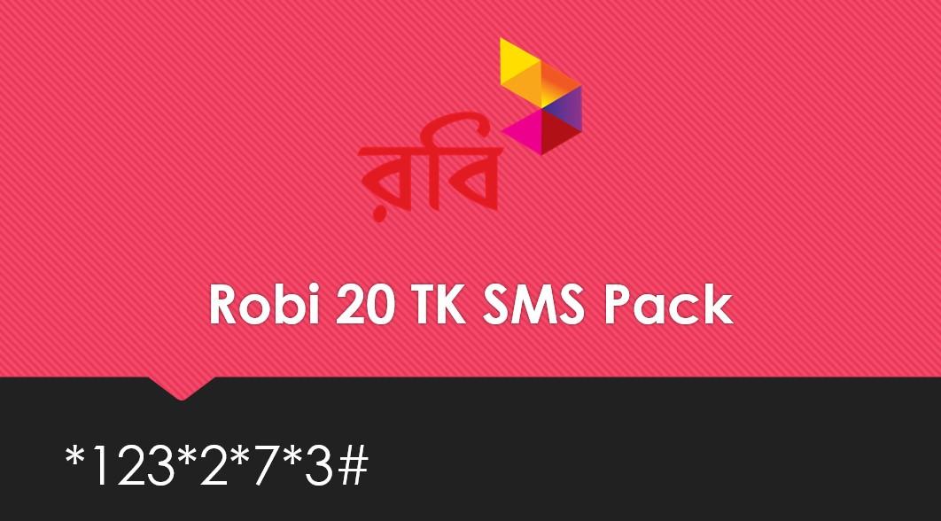 Robi 20 TK SMS Pack