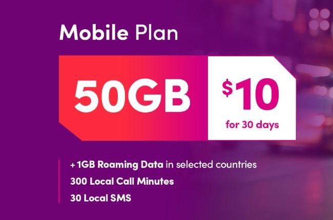 TPG Singapore 50 GB Mobile Plan offer