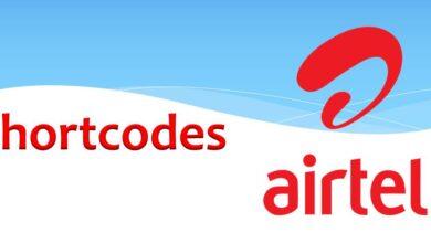 Airtel shortcodes