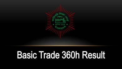 Basic Trade 360h Result [www.bteb.gov.bd]