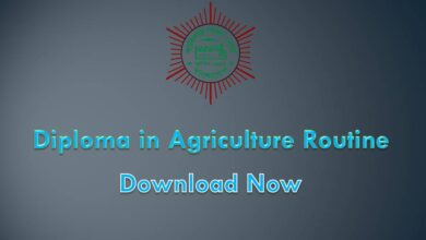 Diploma in Agriculture Routine