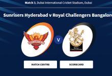 IPL Live: SRH vs RCB Live Match 2020