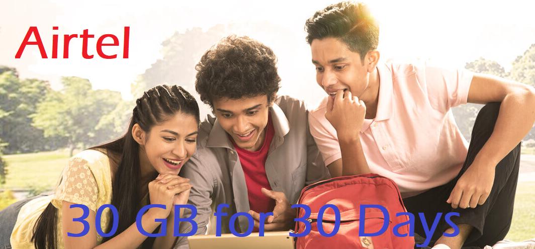 Airtel 30 GB for 30 Days