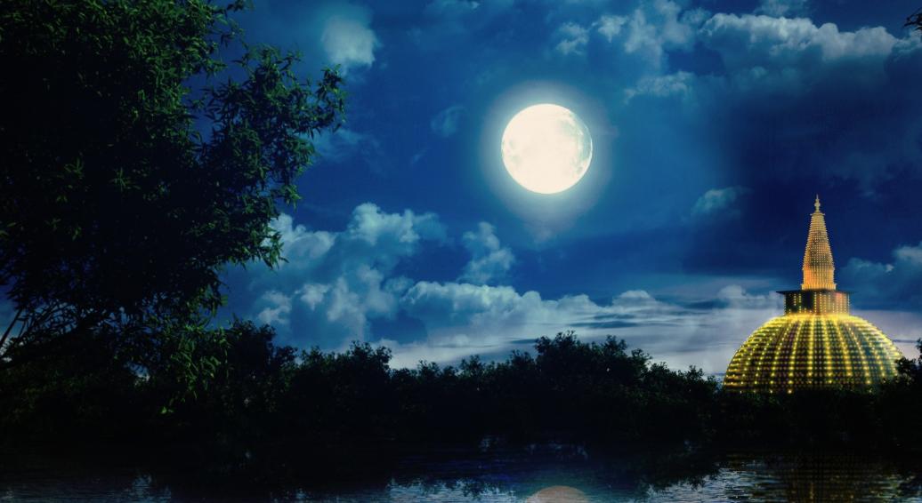 Poya Full Moon Day Image